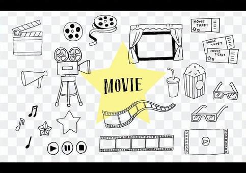手写的电影的插图集