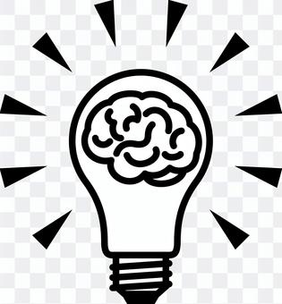Light bulb brain idea inspiration