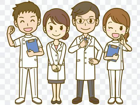 医療スタッフ:医者と看護師01FS