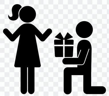 象形圖來呈現禮物