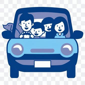 和家人一起開車