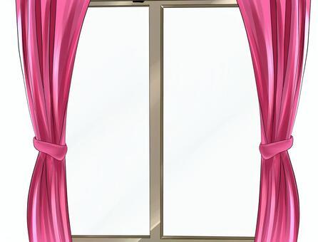 材料窗簾和窗戶