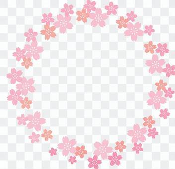 Cherry blossom round frame