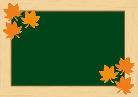 Picture frame blackboard (autumn leaves)
