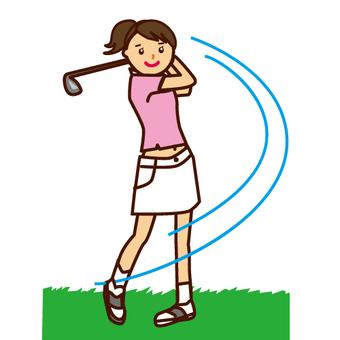 高爾夫女性