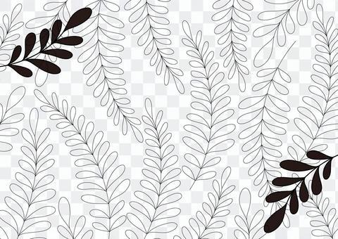 葉線畫植物單色背景