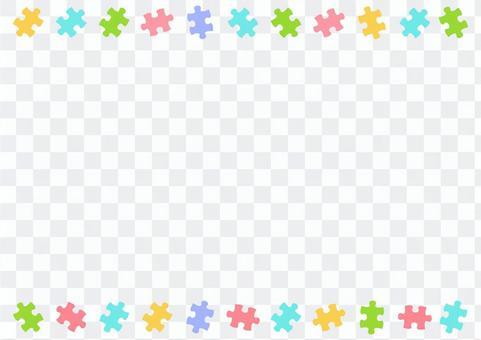 パズルピースの飾り罫02