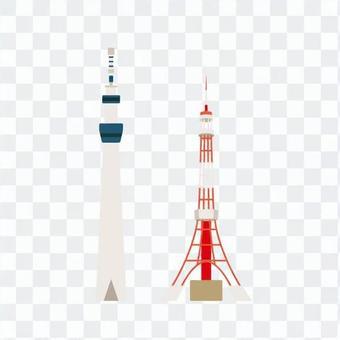 東京天空樹和東京塔