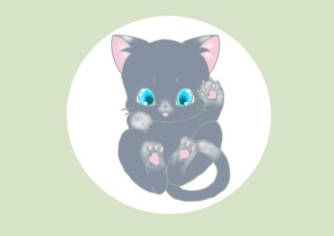 Animal Icon_Russian Blue_Kororin Cat