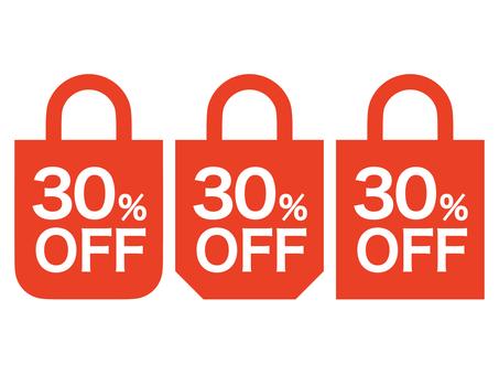 30% OFF Mark set: Bag A: Red