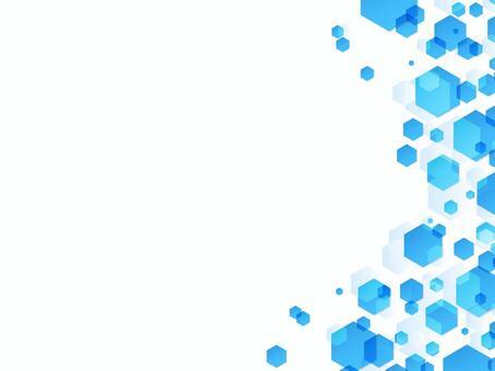 背景藍色六角形