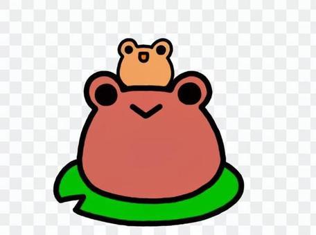 蛙の子は蛙 赤