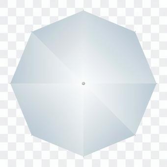 從上方看到的傘(透明)