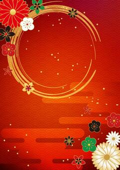 Japanese Pattern_Red_Vertical Background 2330