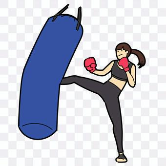 跆拳道的女人