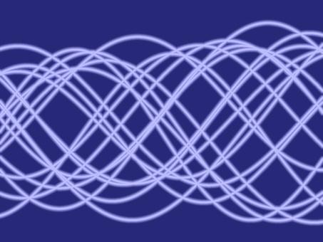 相位和振幅變化的許多正弦波