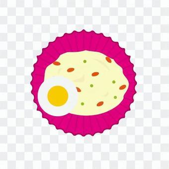 土豆沙拉和煮雞蛋