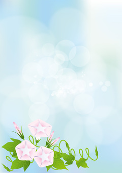 Sky blue & Asagao 11
