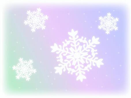 Light gradation and snowflakes