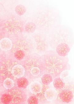 Watercolor style peach blossom background