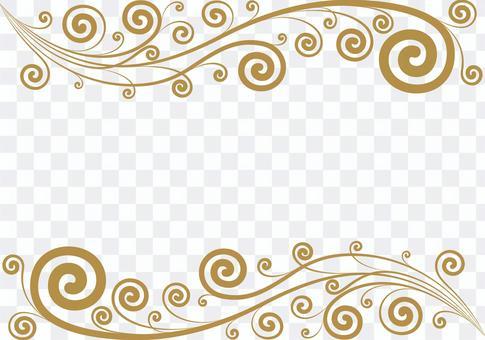 クラシカルな蔦のフレーム ゴールド