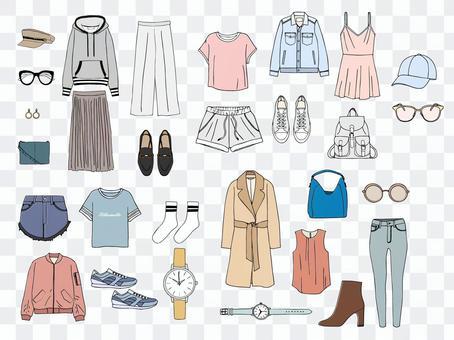 Spring fashion items