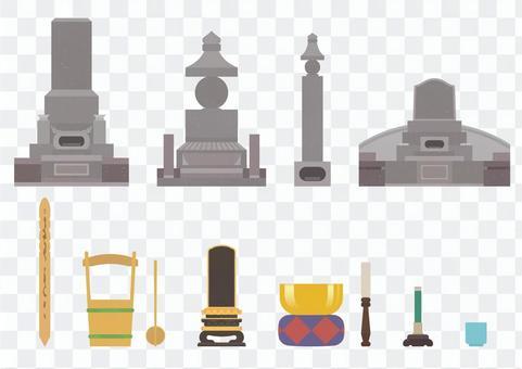 簡易墓和佛壇材料套裝