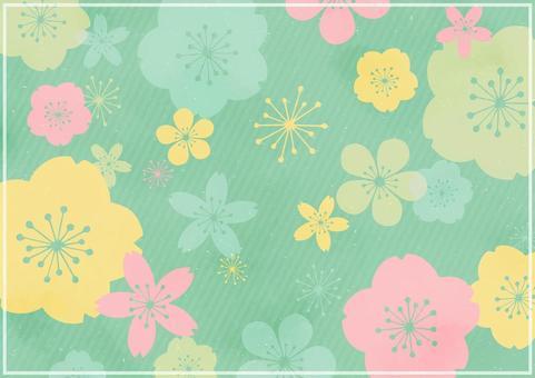 日式花卉背景素材2