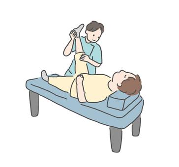 在整骨診所接受治療的人 2