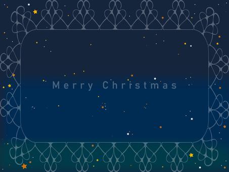 Starry sky glitter Christmas card