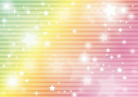 Rainbow colored starry sky background 03