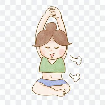 女人在做瑜伽