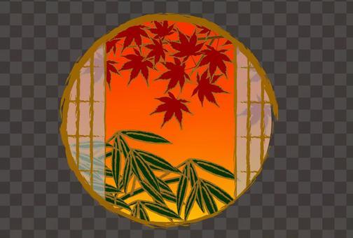 日式秋天楓葉楓背景
