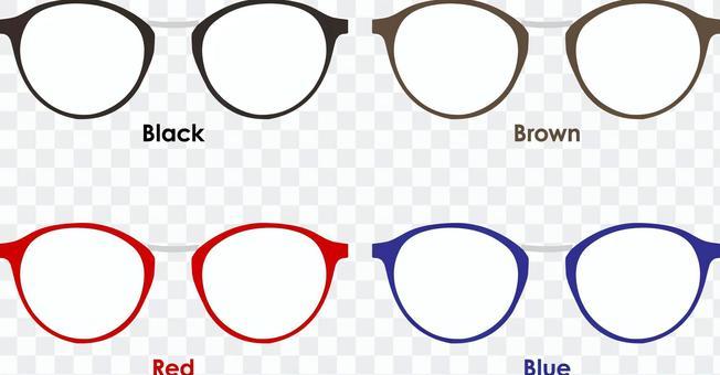 波士頓型眼鏡