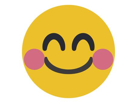 微笑 Nico Nico 馬克象形圖插圖