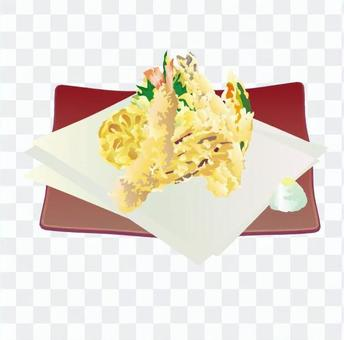 天婦羅什錦(紅菜)