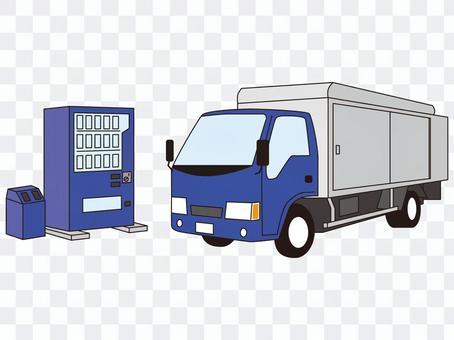 飲料載體 供應商卡車 自動售貨機