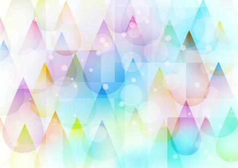 多彩滴玻璃藝術風格背景水平