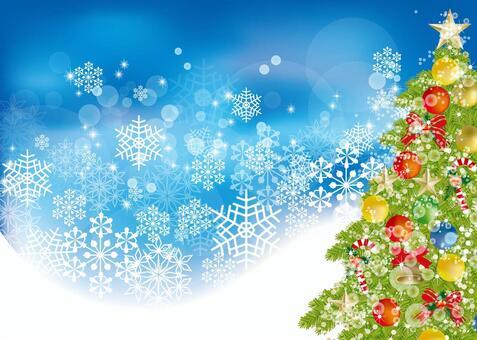 Christmas tree & snow 8