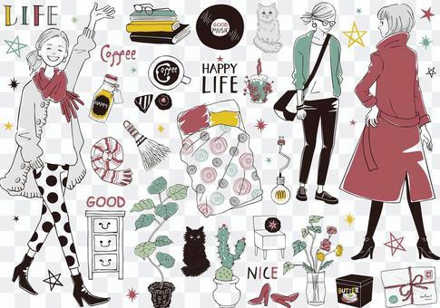 Women fashionable life