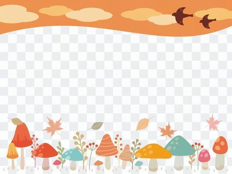 Mushroom and plant illustration