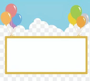 一個框架舉起一個氣球