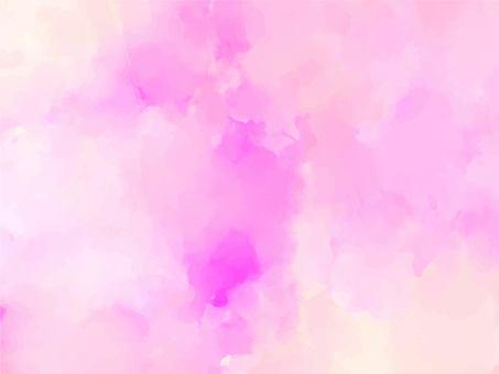 夢幻般的粉紅色淡水彩紋理背景