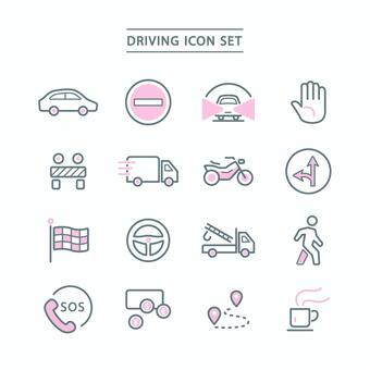 DRIVING ICON SET