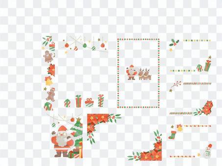 Xmas_手書き水彩カードセット_01