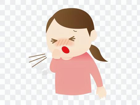 咳嗽的女人