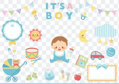 Baby illustration set (boy)