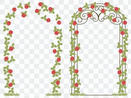 Roses arch frame