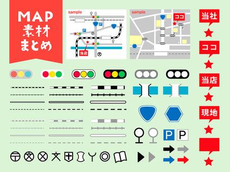 MAP material illustration summary