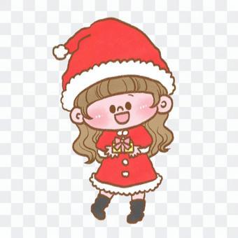 聖誕老人角色扮演的女孩
